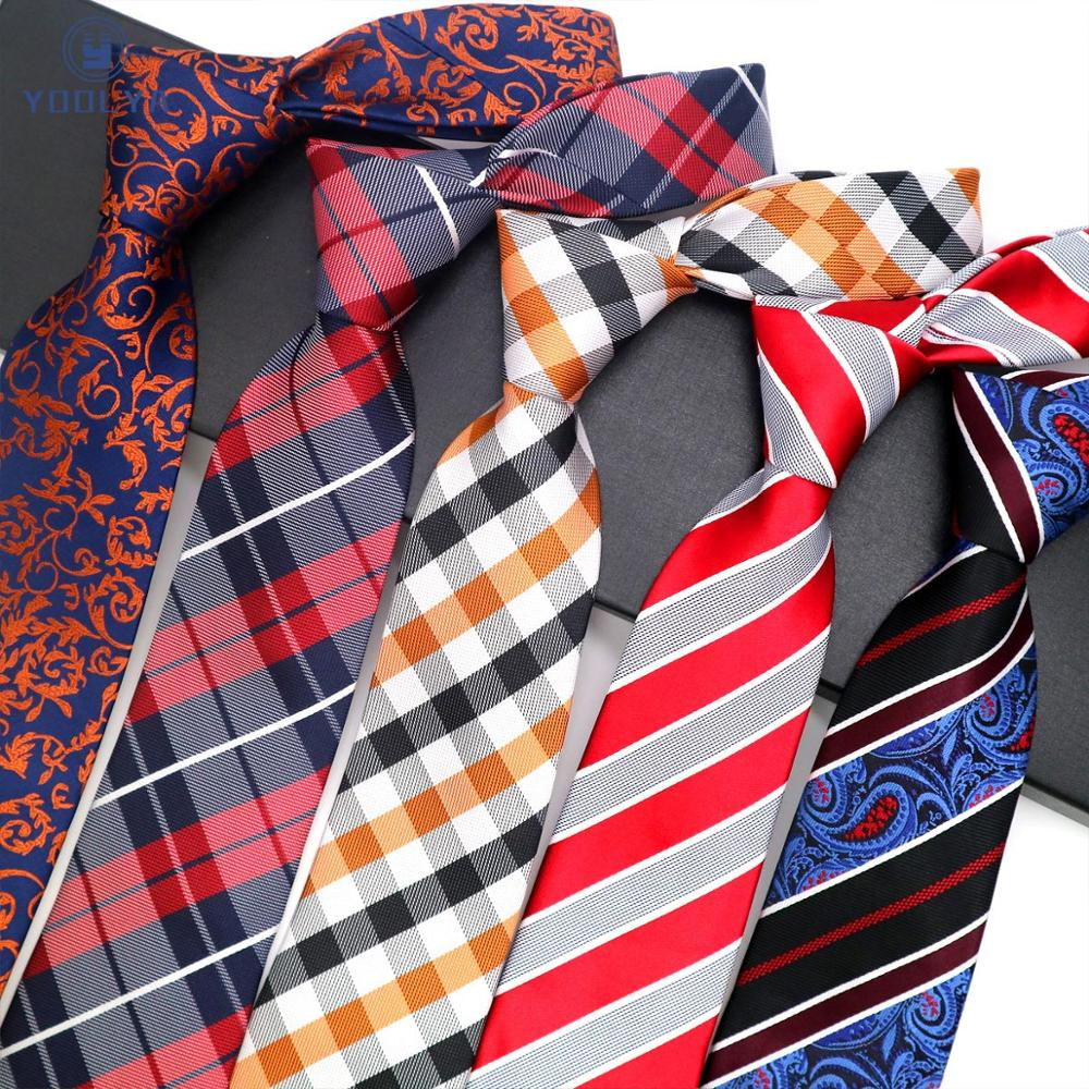 Luxury Mens Tie 8CM Paisley Striped Silk Necktie Neckwear Jacquard Woven Neck Ties For Man Formal Business Wedding Party