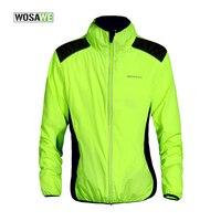 WOSAWE Breathable Windproof Fluorescent Cycling Jacket Softshell Cycling Wind Jacket Sport Wind Coat Bike Windbreaker Jacket