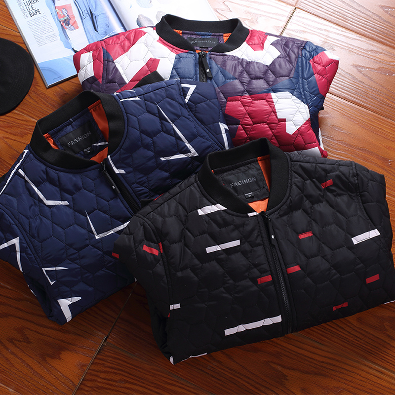 2016 Winter brand jacket Men fashion warm padded jacket coat cotton casual European Ultra Light Thin plus size winter jacket