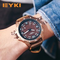 EYKI Large Stereoscopic Dial Luminous Popular Colorful Younth Men Watch Top Brand Man Watches Sport Quartz