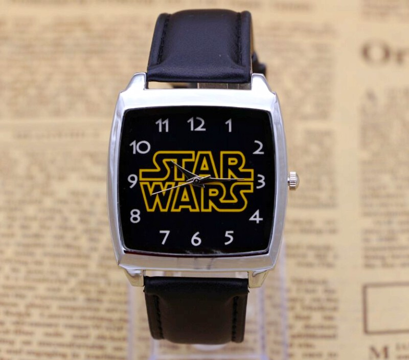 Hot Sale star wars BOYS Cartoon Watch Lovely Girl Children Watches PU Strap Quartz Wristwatch Kids Dress Rectangular Clock joyrox minions pattern children watch 2017 hot despicable me cartoon leather strap quartz wristwatch boys girls kids clock