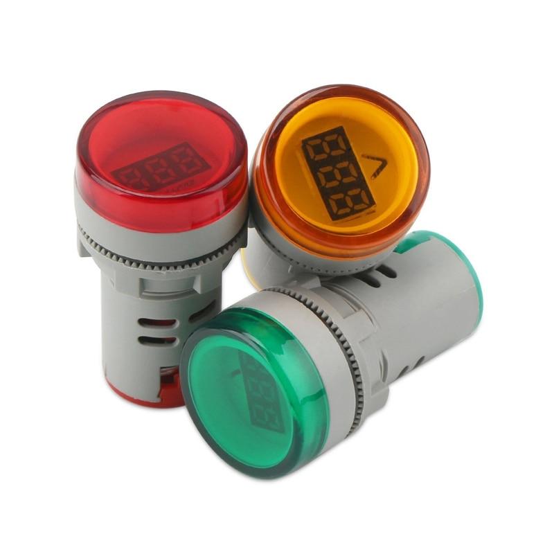 AC 60-500V digital LCD Voltmeter voltage meter signal indicator light 110v 220v