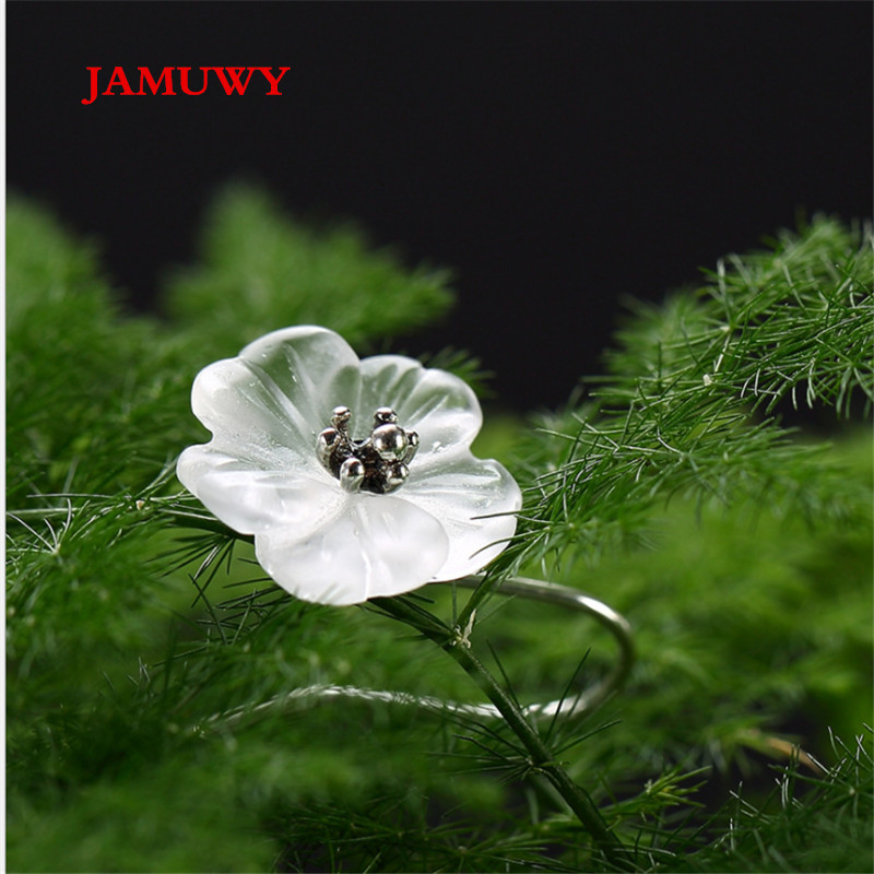 JAMUWY ladies earrings jewelry. 925 sterling silver quality plum shape. We pay for shipping