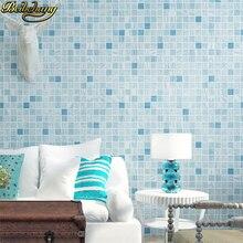 Фотография Mosaic wall paper roll plaid bathroom wall wallpaper for living room papel de parede 3d Home Decoration papel parede wall murals