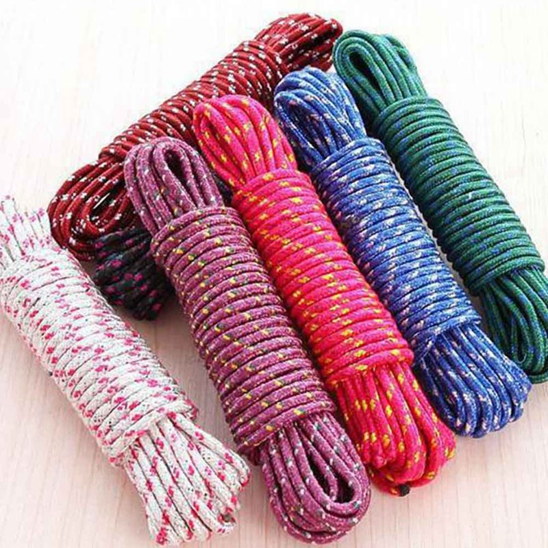 4mm Braided Polypropylene Poly Rope Cord Boat Yacht Sailing Climbing