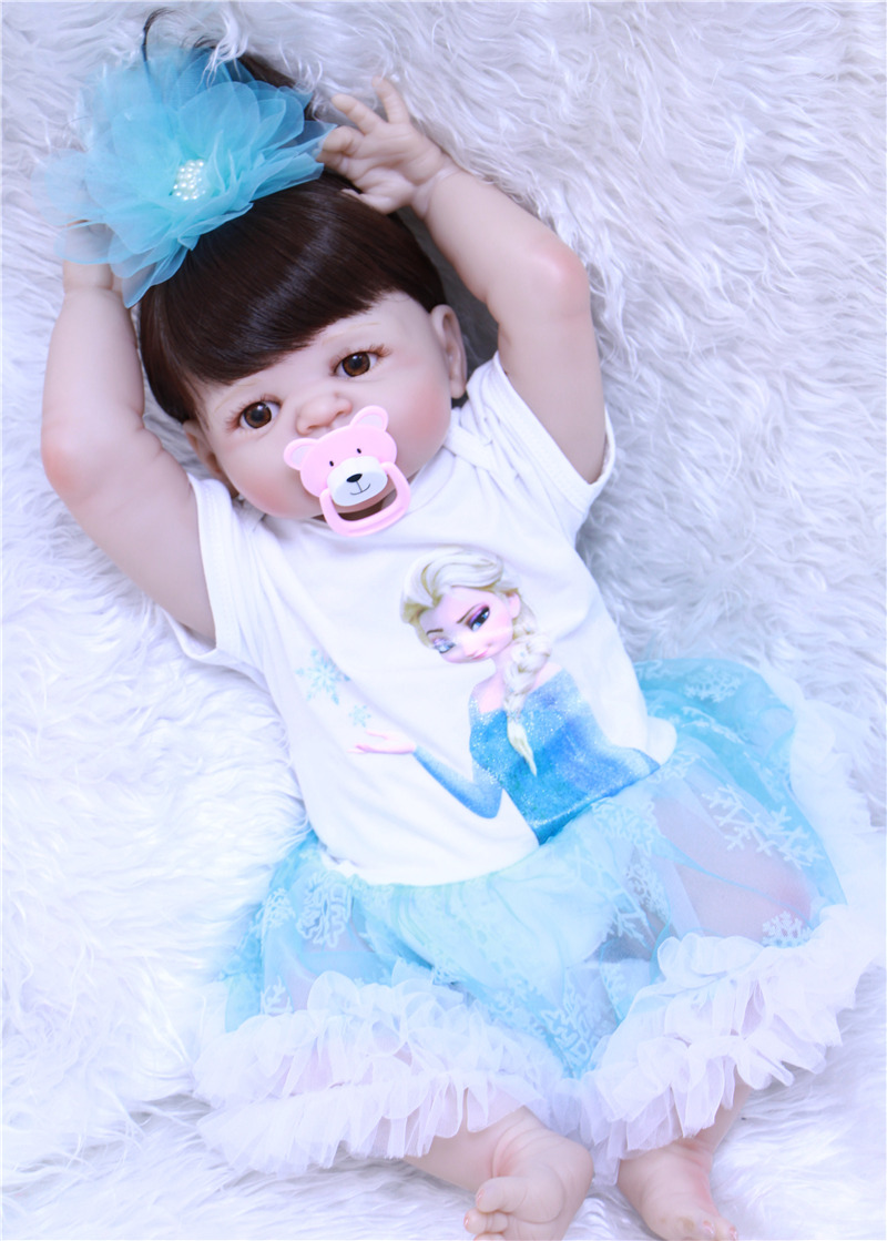 2255cm 100% Full Body soft Silicone Reborn Babies Dolls vinyl newborn princess collectible doll toy birthday bonecas kids gift2255cm 100% Full Body soft Silicone Reborn Babies Dolls vinyl newborn princess collectible doll toy birthday bonecas kids gift