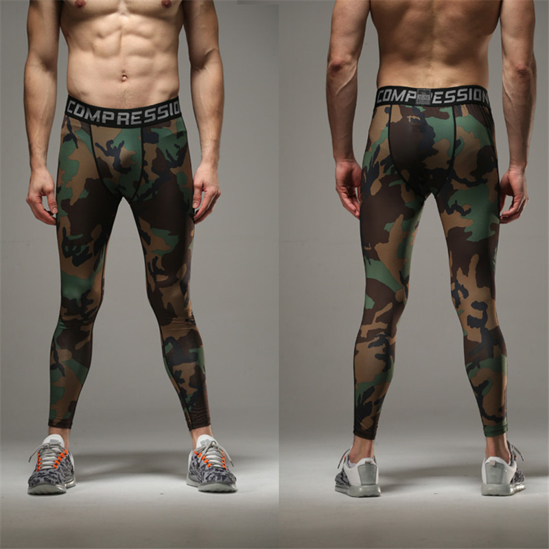 Men 2016 Summer Compression Pants Tights Pants Bodybuilding Mans Army  Camouflage Green Skinny Men Leggings-in Skinny Pants from Men s Clothing on  ... 2c65e45625da