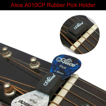 Alice 5pcs Black Rubber Pick Holder Headstock for Guitar Bass Ukelele Musical Instruments Wholesale Price Free Shipping