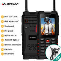 Ioutdoor T2 IP68 Wasserdicht Stoßfest Robuste Telefon Walkie Talkie Handy Power Bank Taschenlampe 4500mAh Russische Tastatur