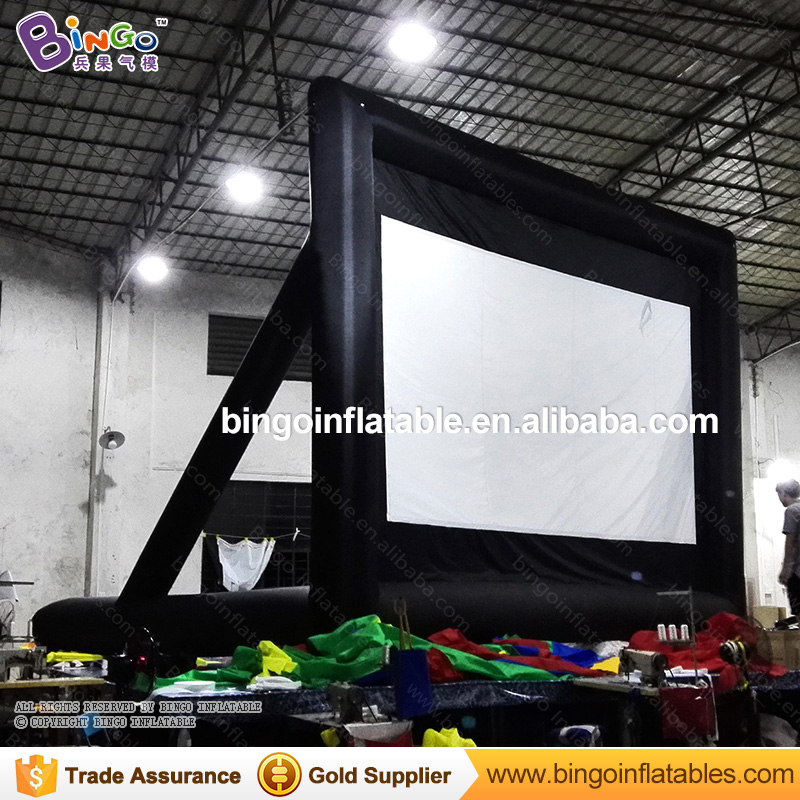 Factory direct sale 6.4X4.9M inflatable movie screen for advertising customize projector screen for outdoor teaching screen tent