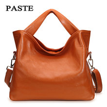 Women's Genuine Leather Bags Paste 2017 Europe style Fashion Cowskin Handbags Lady Casual shoulder Bag 6 colors 2P3002