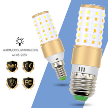 купить E27 Led Lamp E14 Led Corn Light Bulb 220V Bombillas Led 4W 5W 7W No Flicker Bulb 2835 SMD Decoration Home Lighting 3 Color Modes дешево
