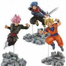 12-13 cm 3 Tipos Anime Dragon Ball Z Super Alma X Alma Goku Son Goku Trunks Preto PVC figuras Modelo Brinquedos(China)