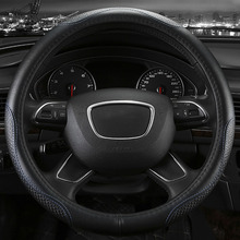 Genuine Leather car steering wheel cover five colors for Audi B5 allraod Avant TT A6L Q3 Q5 Q7 S4 A5 A1 interior accessories(China)