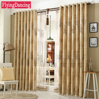 Rose Jacquard Blackout Curtains Drapes For Living Room Bedroom Blind Fabric Tree Printing Sheer Curtains Customize