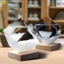 Weather Forecast Crystal Pear Shape Storm Glass Decor Christmas Gift Weather Forecast For Bottle Drop Storm