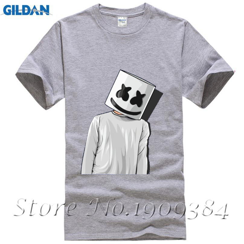 9a3c6311 Cheap Price Unique Tee Shirts Marshmello FAN ART mens t shirts Youth Short  T Shirt Crew Neck Hombre Funny Tees -in T-Shirts from Men's Clothing on ...