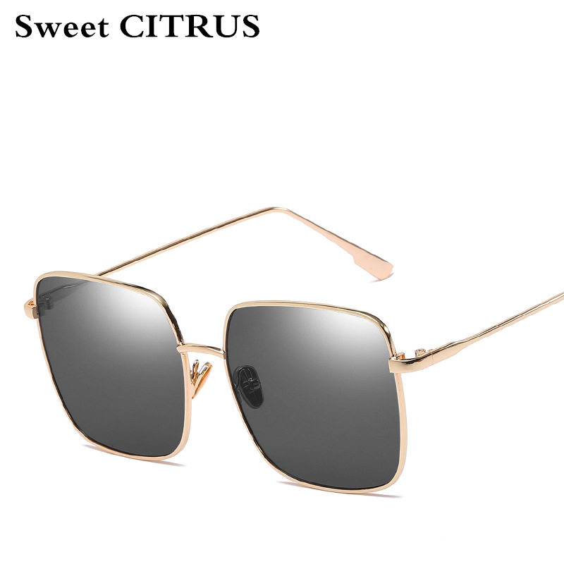 b95579967a Sweet CITRUS Vintage Square Sunglasses Women Men Fashion Sun Glasses Retro  Gold Metal Eye glasses Frame Eyewear with Clear Lens-in Sunglasses from  Apparel ...