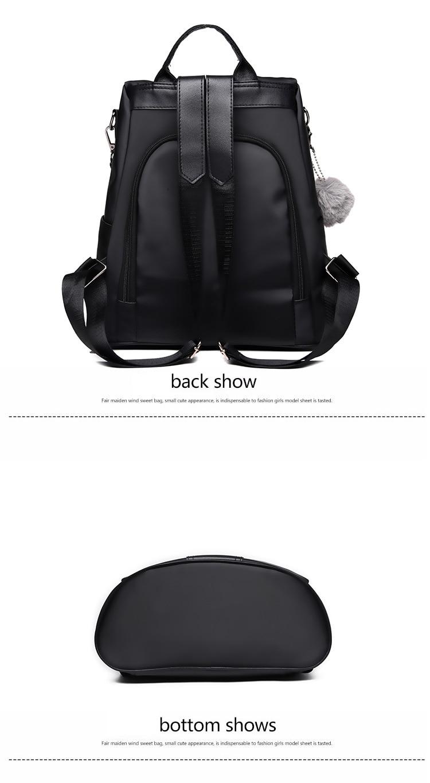 HTB1Zm5DXyLrK1Rjy1zdq6ynnpXag New Fashion Waterproof Casual Women Backpack Purse Anti-theft Rucksack Mochila Feminina School Shoulder Bag for Teenagers Girls
