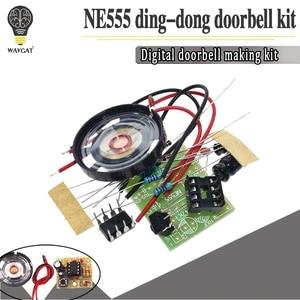 NE555 Doorbell Suite Electronic Production Doorbell Suite DIY Kit Ding dong doorbell PCB welding laboratory