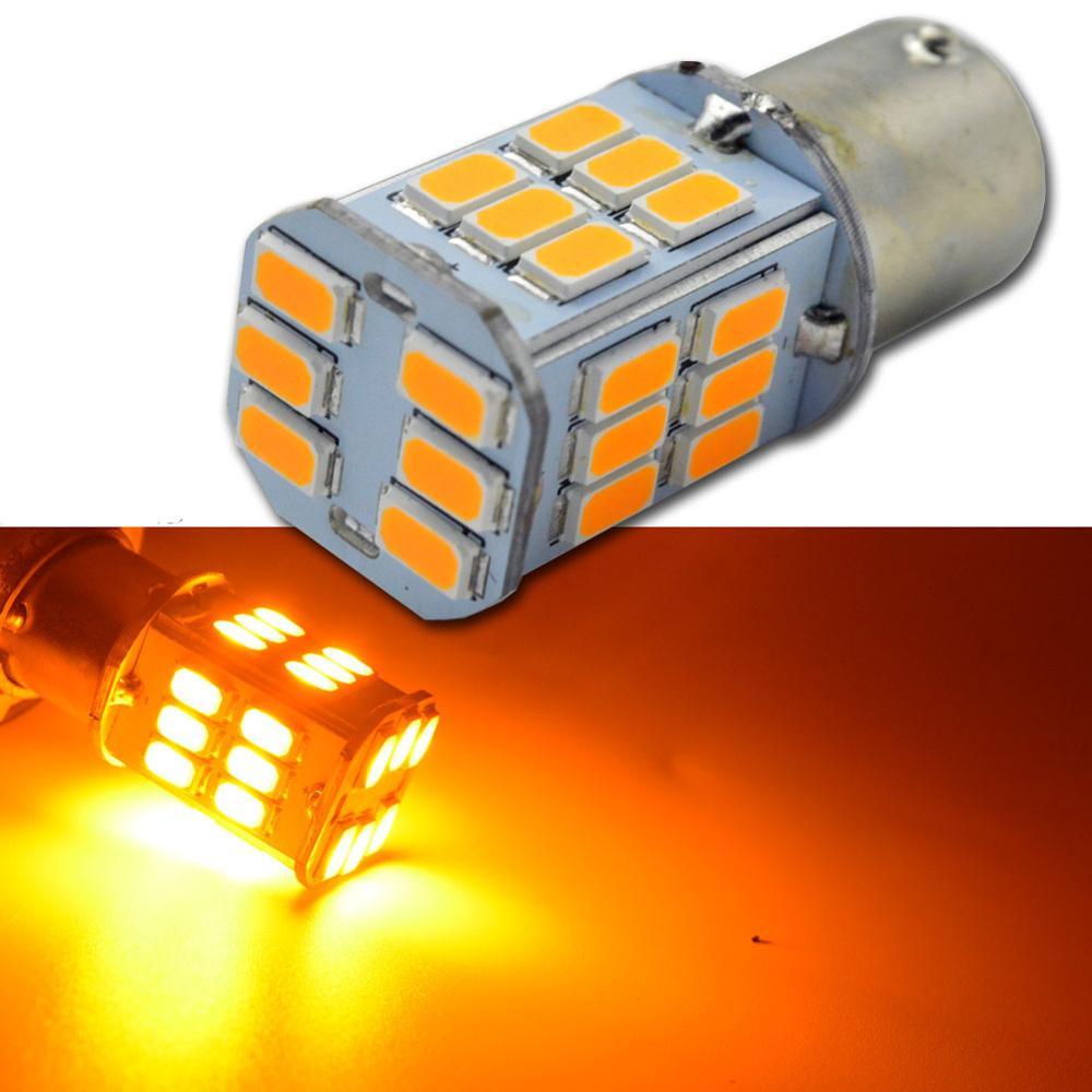 2 PCS 1157 30SMD BA15D 5730 6W Car LED Bulb White Red Amber Auto Brake Lamp Automotive Turn Signal Light 6V 12V 24V High Power
