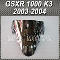 For Suzuki GSXR 1000 K3 2003 2004 03 04 Double Bubble Windshield/Windscreen Motorcycle Part Silver