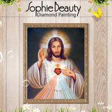 diamond painting jesus cross needlework square drill and full embroidery portrait home decoration