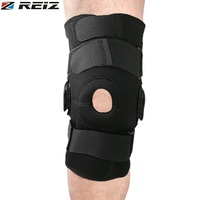 REIZ Adjustable Hinged Knee Limited Support Brace Knee Full Protection Sport Injury Knee Pads Safety Guard