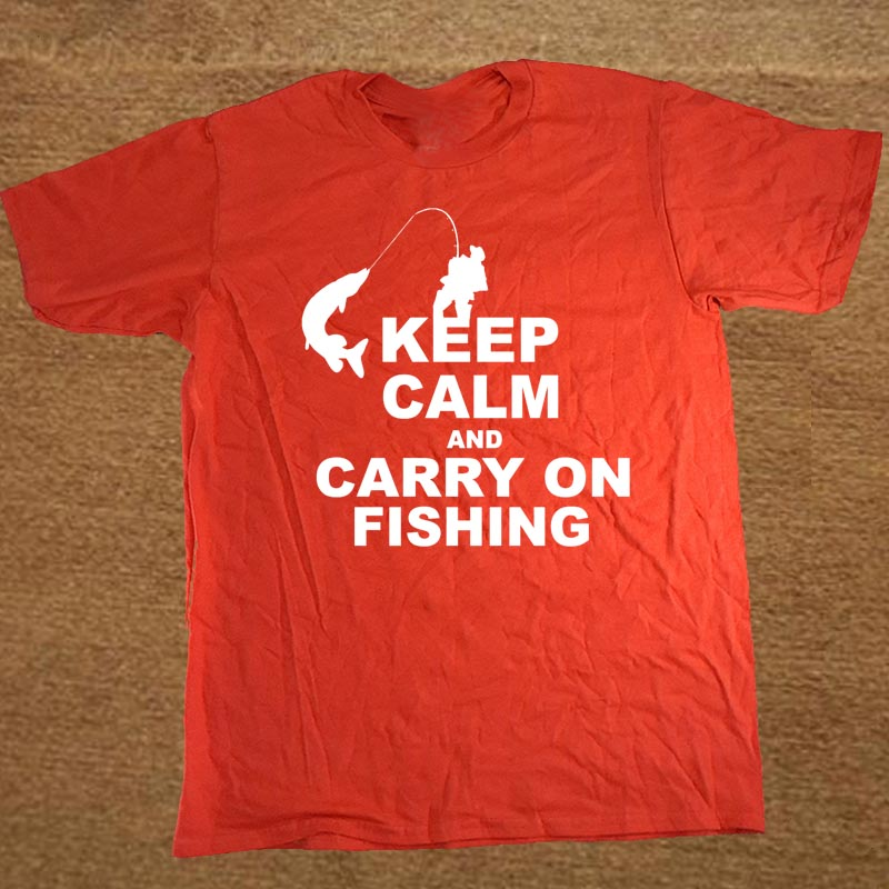 758461e9 Keep Calm And Carry On Fisher Fisherman Custom Funny T Shirt Tshirt Men  Cotton Short Sleeve T shirt Top Tees-in T-Shirts from Men's Clothing on ...