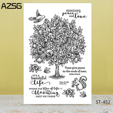 AZSG Fruit Tree Bird Squirrel Clear Stamps/Seals For DIY Scrapbooking/Card Making/Album Decorative Silicon Stamp Crafts(China)