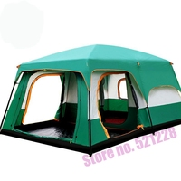 Camel 6 8 10 12 Person Outdoor Huge Tent 2 Bedroom Family Water proof Hiking Mountaineering Tent Self Driving Tent Camping Tent
