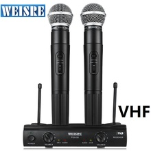 Professional WEISRE PGX58 Dual Omni-directional Wireless Microphone system Mic For VHF Not UHF Condenser Micro phone