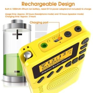 Image 4 - מיני כיס דיגיטלי DAB רדיו FM מקלט RDS נייד MP3 נגן עם LCD תצוגת מסך תמיכה TF כרטיס שינה זמן סט