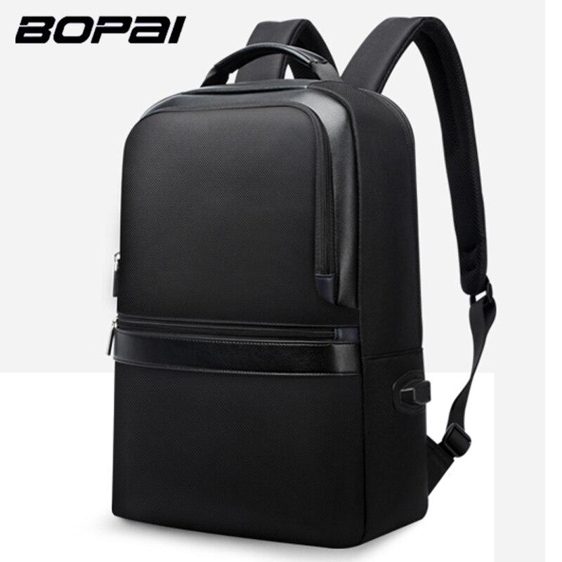 BOPAI Anti-thief USB Charging Backpack 15.6inch Laptop Backpack for Men Travel Backpack Waterproof School Backpack Bag Shoulders heart thief