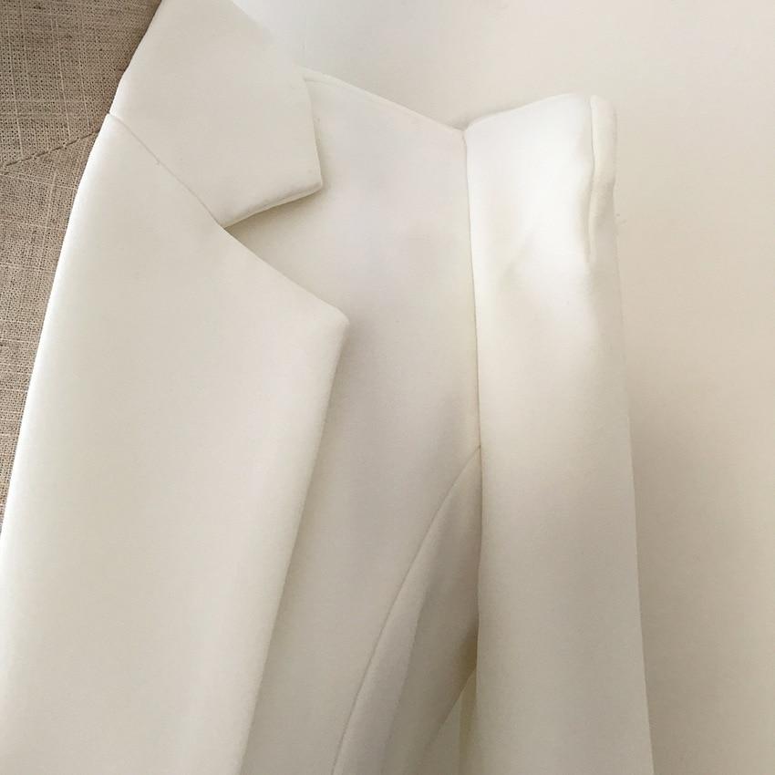 Américain Ol Explosifs Et Blanc Européen Bouton Long Moyen Nouvelle Costume Shrug Femmes De Slim qExCttwO5