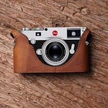 LEICA M10 카메라 Mr. Stone 핸드 메이드 정품 가죽 카메라 케이스 비디오 하프 백 카메라 바디 수트