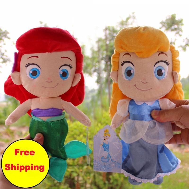 Princess Cinderella Ariel the Little Mermaid Toddler Plush Dolls Toys Stuffed