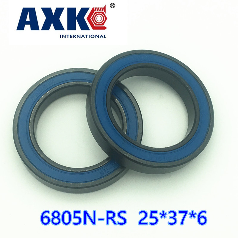 AXK  6805N-2RS 6805  SI3N4 stainless steel hybrid ceramic Bearing 25x37x6 6805N 25376 bike wheel bottom bracket bearing BB51 HT2 wheel hub bearing 15267 2rs 15 26 7mm s15267 2rs ce 15267 stainless steel si3n4 hybrid ceramic bearing