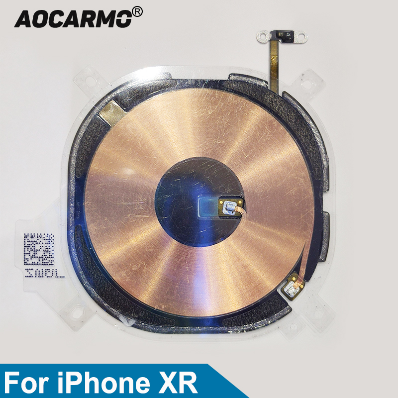 Aocarmo For iPhone XR Charger Receiver MFC Wireless Charging Induction Coil NFC Compass Module Flex Cable Replacement PartMobile Phone Flex Cables   -