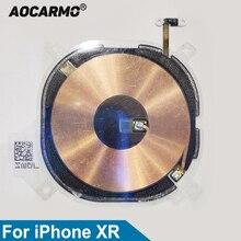 Aocarmo Voor iPhone XR Oplader Ontvanger MFC Draadloze Opladen Inductie Spoel NFC Kompas Module Flex Kabel Vervanging Deel
