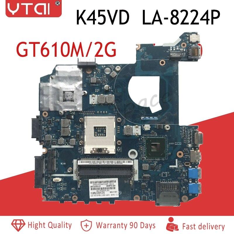 K45VD motherboard QCL41 LA-8224P for ASUS A45V K45V K45VM K45VJ K45VS A45VJ K45VD Laptop motherboard Test original mainboardK45VD motherboard QCL41 LA-8224P for ASUS A45V K45V K45VM K45VJ K45VS A45VJ K45VD Laptop motherboard Test original mainboard