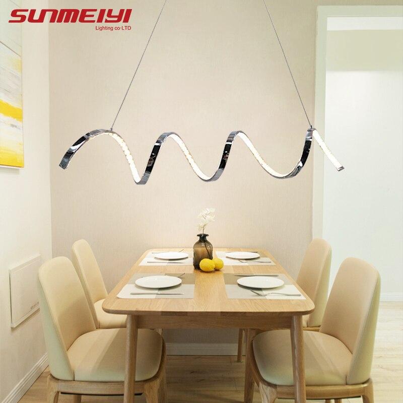 Moderne LED Kristall Aluminium Anhänger Lichter Drehen Design ...