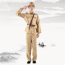 2 colos military cosplay costume men chinese uniform clothing historical Army Suit Kuomintang soldier