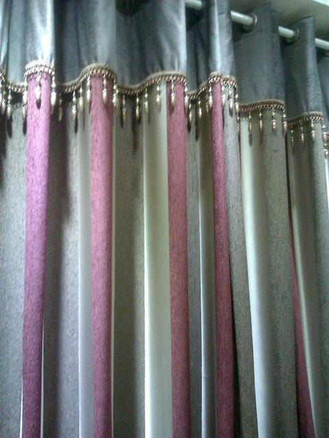 zc wholesale ice curtains velvet curtain style beige chinese simple