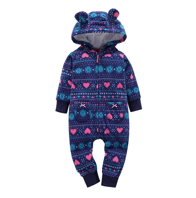 HTB1Zm7IjZrI8KJjy0Fhq6zfnpXaF kid boy girl Long Sleeve Hooded Fleece jumpsuit overalls red plaid Newborn baby winter clothes unisex new born costume 2019
