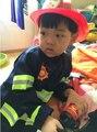 110-160 см 2 цветов 1 Компл. Малыш Ребенок Хэллоуин Рождество Косплей Пожарный Костюм