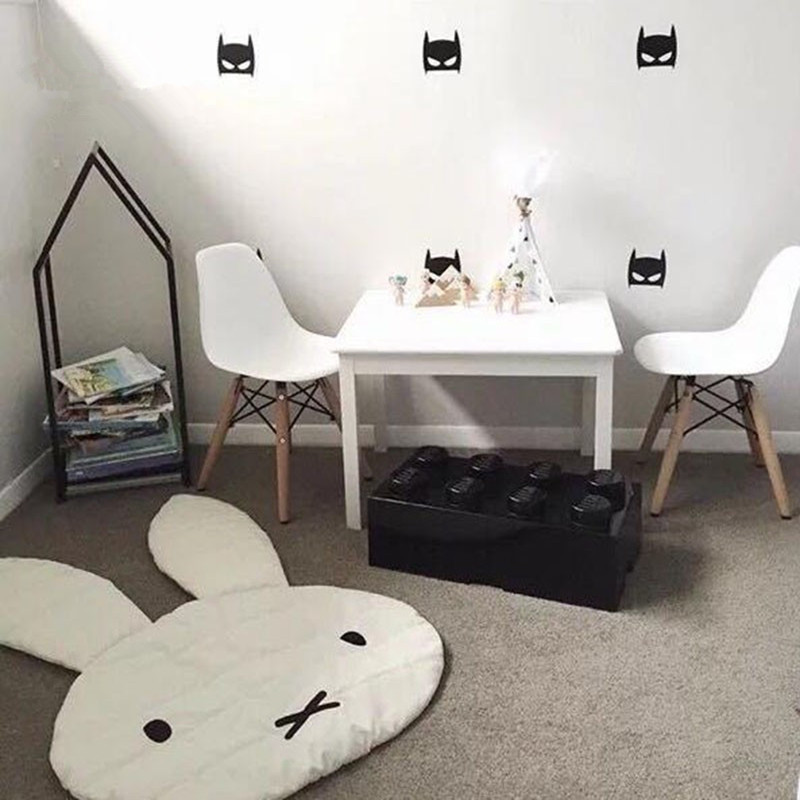 INS Cute Rabbit Crawling Blanket Carpet Floor Baby Bunny Play Mats Children Room Decoration Play Rugs Creeping Mat Size 106*68CM