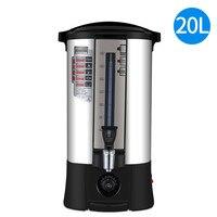 Barril de água quente elétrica Comercial 304 aço inoxidável chaleira elétrica automática caldeira  20L ajustável quente de chá de leite