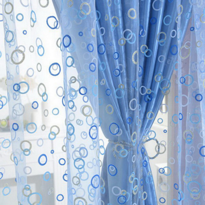 1pcs Western Simple Voile Sheer Window Curtains For Home