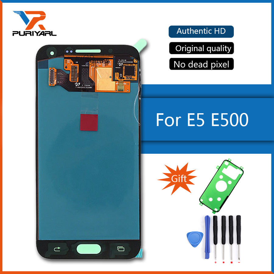 Super AMOLED LCD Screen For Samsung Galaxy E5 E500 E500F E500H E500M LCD Display Touch Screen Digitizer Phone Parts Replacement